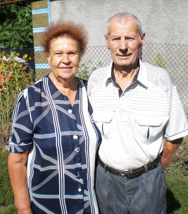 Нина Романовна  Мазур вместе с мужем Василием Сидоровичем