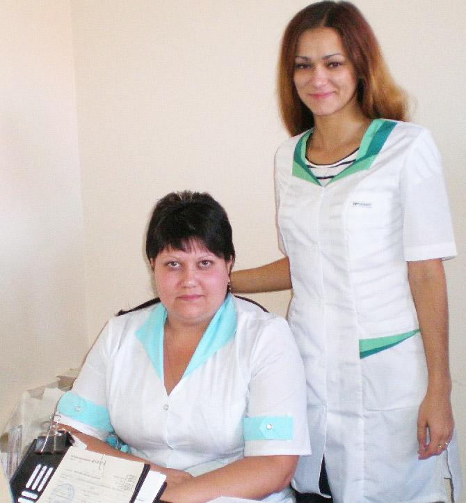 А.В. Серяк и О.Н. Родионова, психолог накологического кабинета ЦРБ