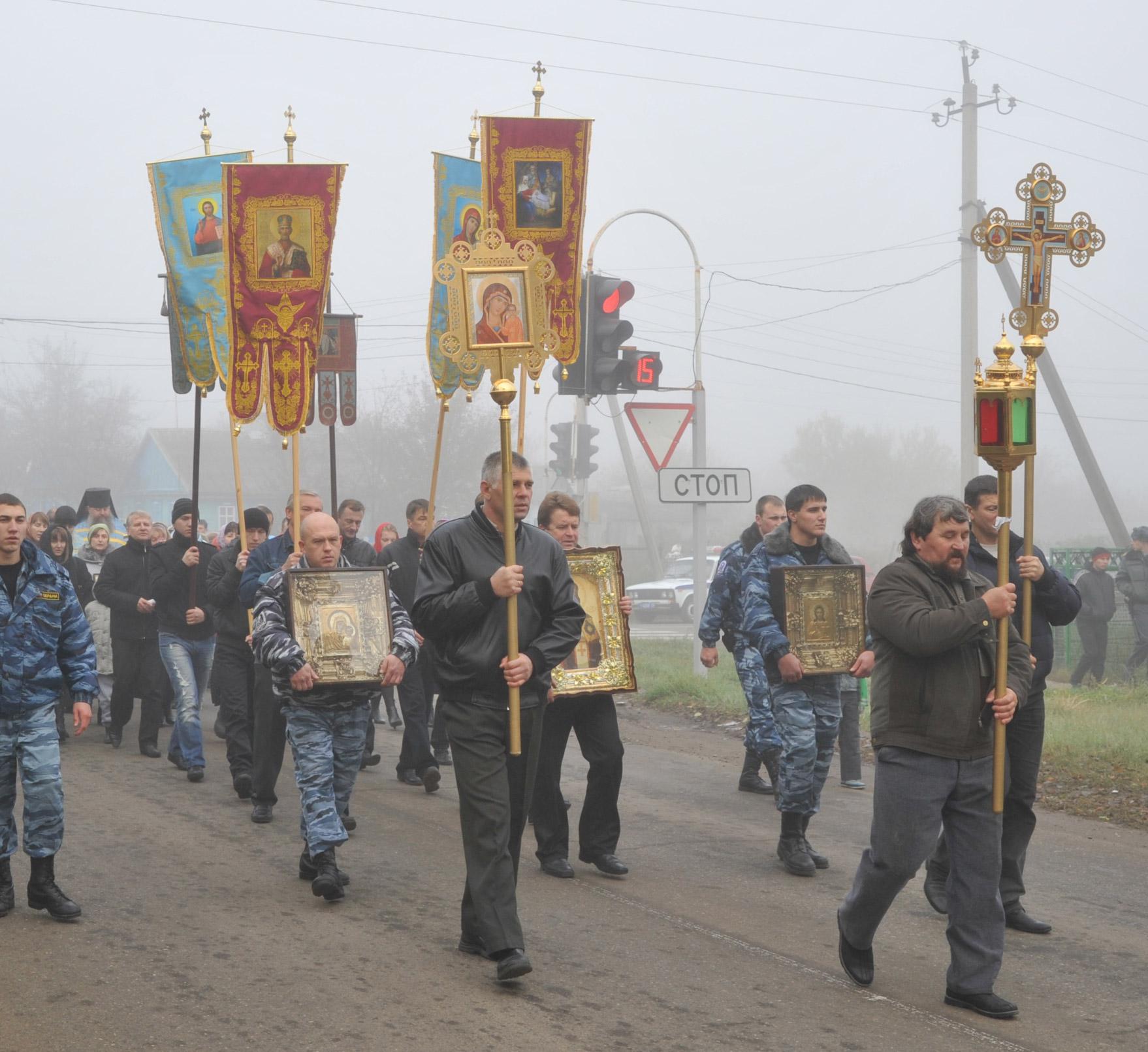 кресный ход в Павловской