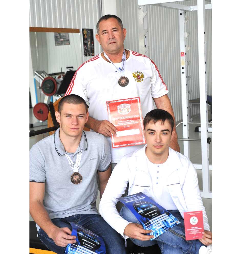 Слева направо:  Илья Забора, Сергей Кириллов, Максим Колбасенко