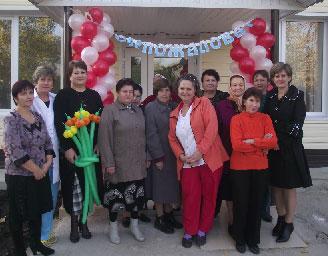 Дружный коллектив больницы на празднике