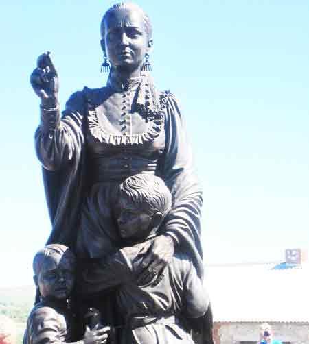 Памятник Матери-казачки ст.Еланская Открытие памятника Матери-казачки