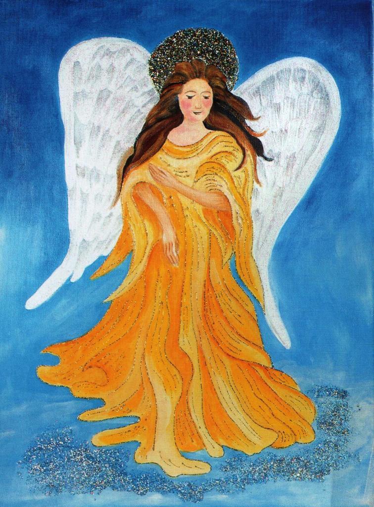 Ангел. Рисунок Екатерины Левченко.