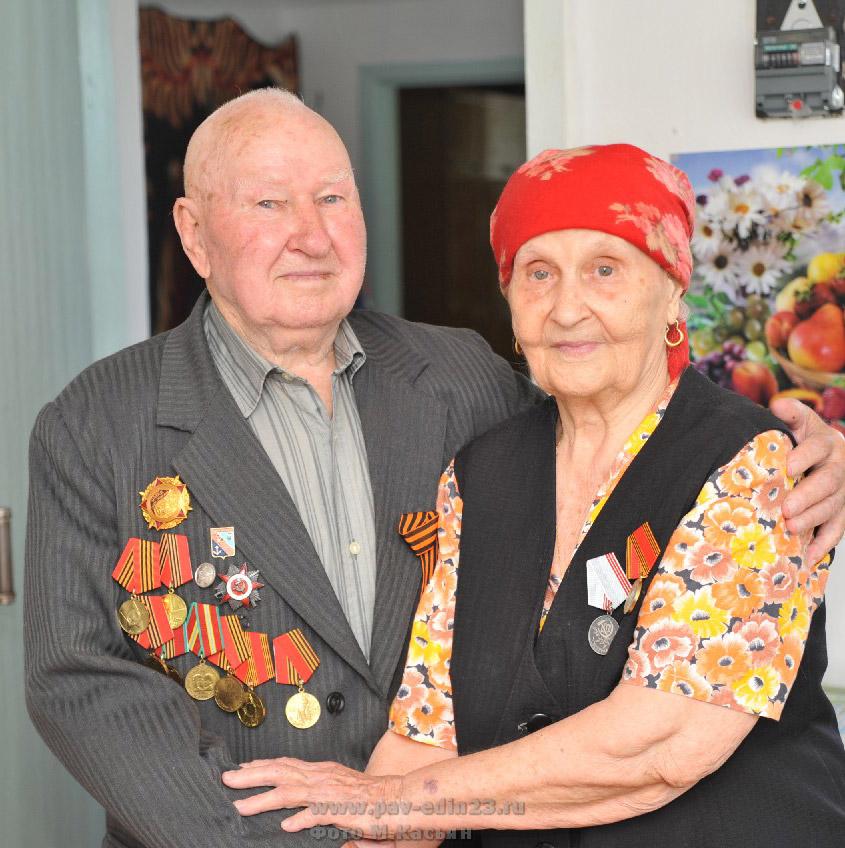 Никита Владимирович Назаренко и его супруга, труженице тыла Александра Степановна.