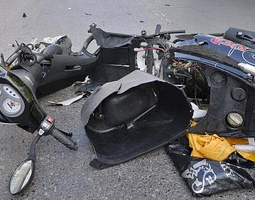«Ниссан» столкнулся со скутером