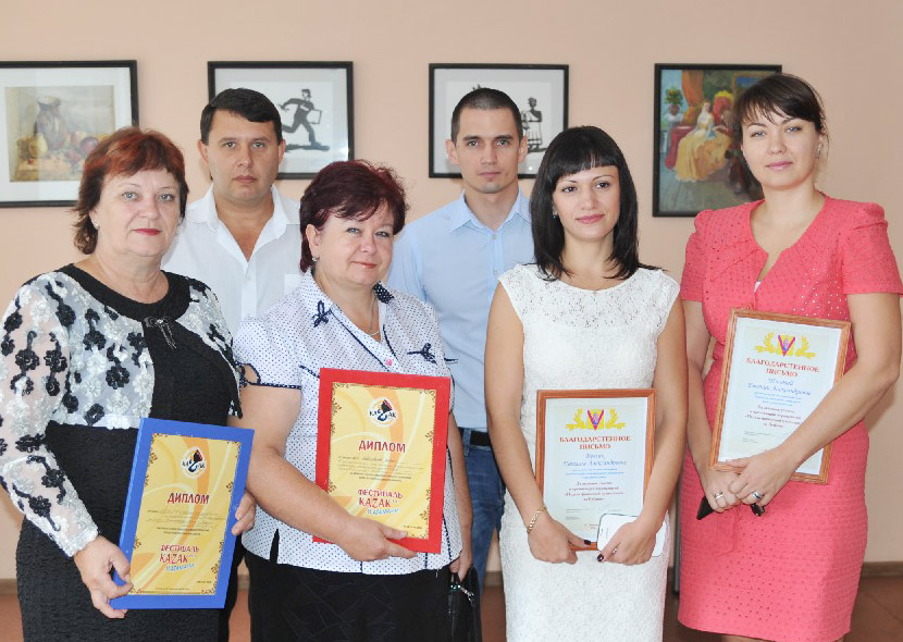 Слева направо: Л.В.СЁМКА, Р.В.КАДЫРОВ, Л.Г.ЕРЕМЕНКО, В.В.КВАСОВ, Н.А.БУГЛАК, Е.А.ШИЛОВА