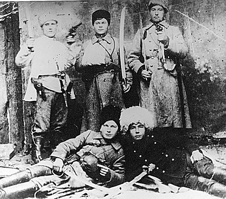Павловчане – участники Гражданской войны  (примерно 1920 год) (из фондов архивного отдела)