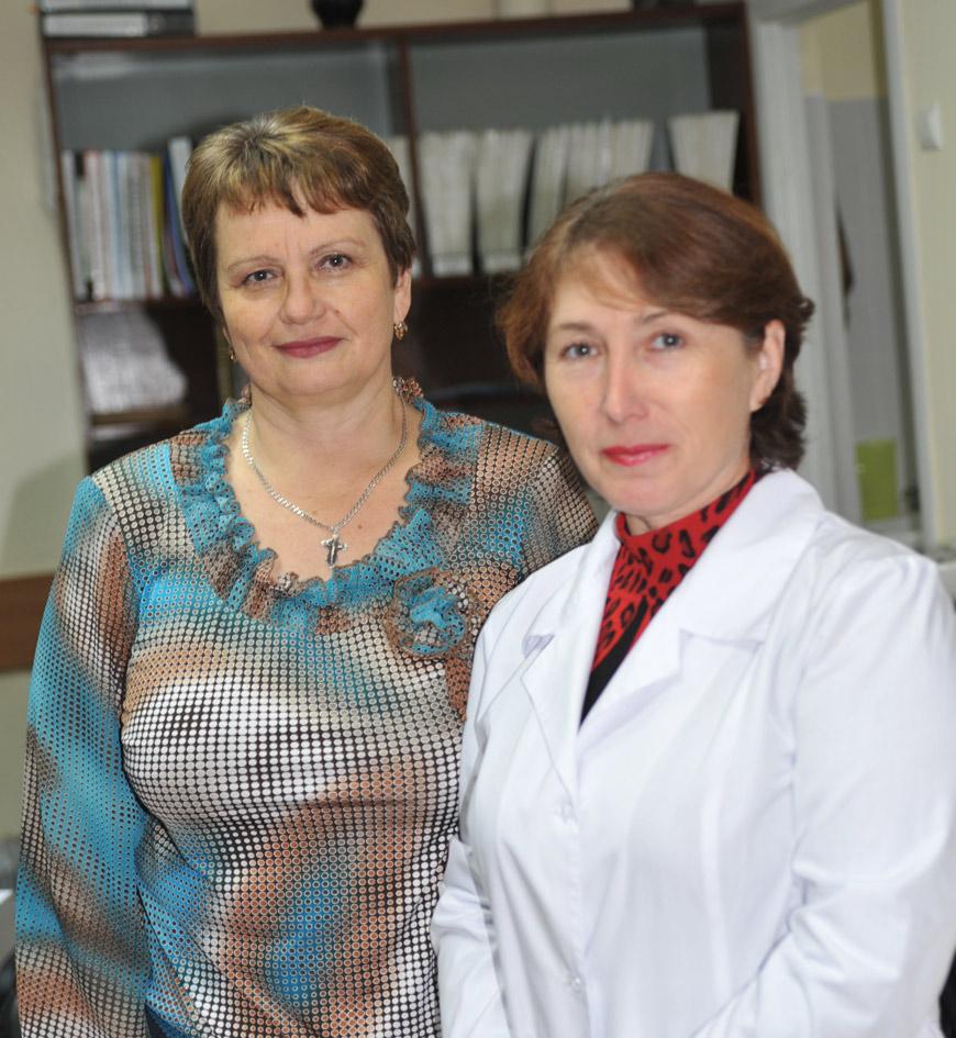 Слева направо: Т.П. Маркова, Н.А. Биденко.