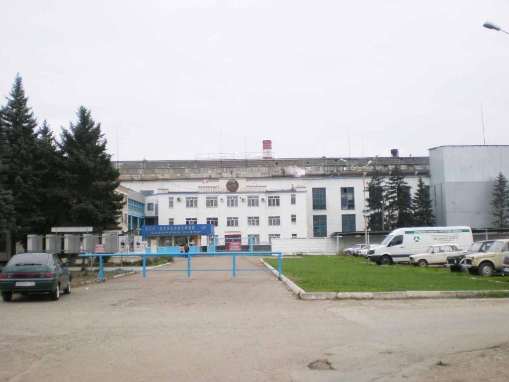 Центральная часть главного корпуса сахарного завода