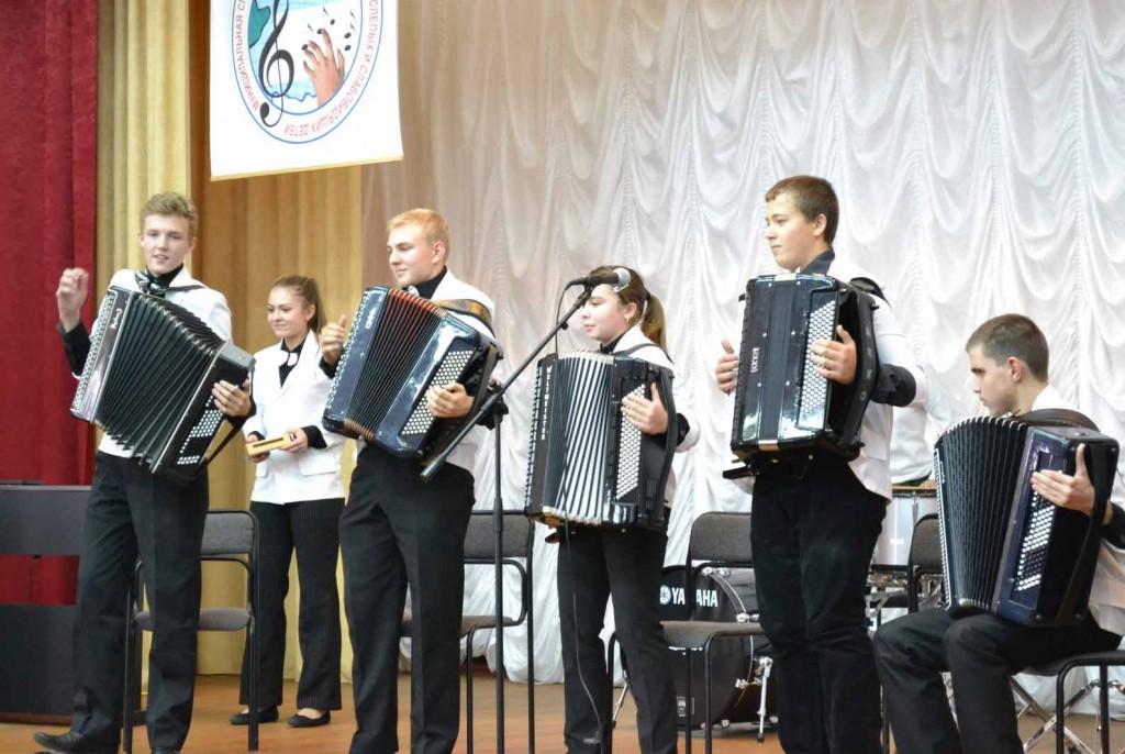 Воспитанники музыкальной школы для детей  с заболеваниями органов зрения