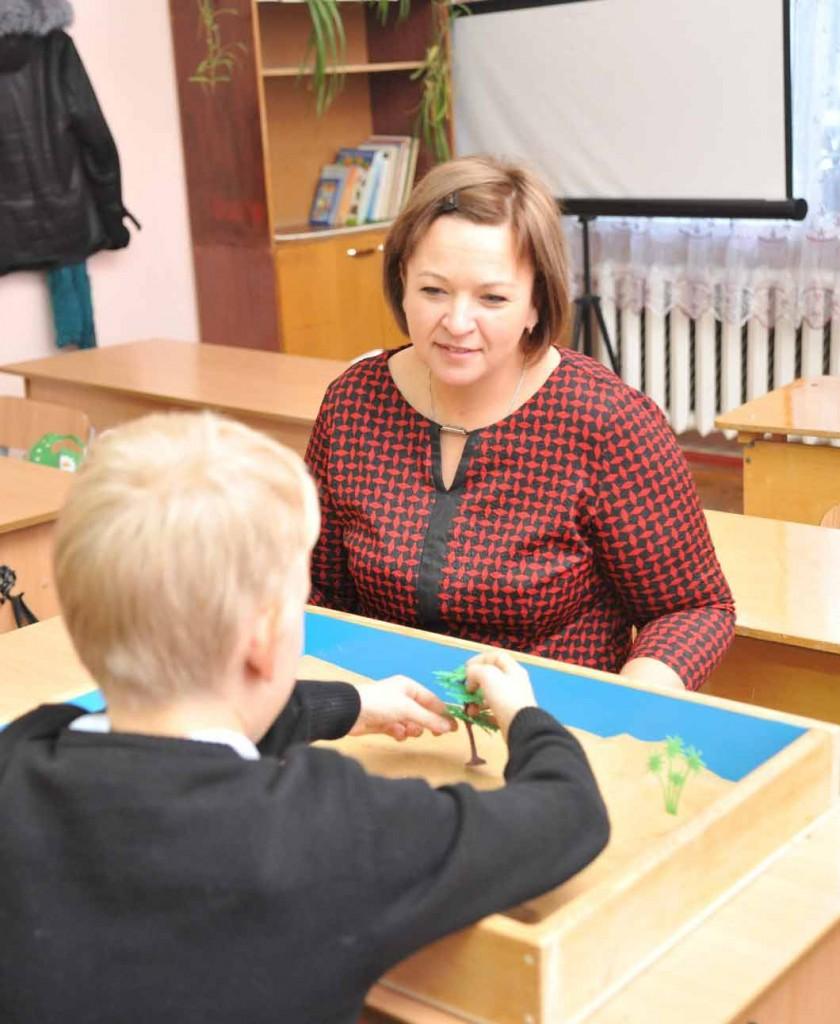 Ирина Ульянова проводит занятие