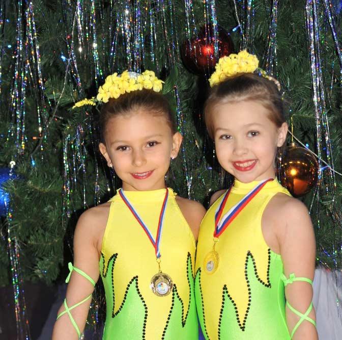 Надежда цирка «Кубань» Надя Фисенко и Соня Шилова.