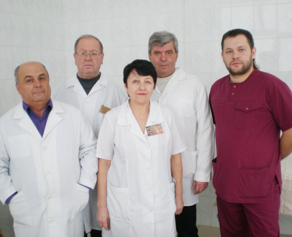 Слева направо: В.Г. Майстренко, О.Т. Луканцев, Н.Н. Почаева, Н.П. Капылов и М.О. Дронов