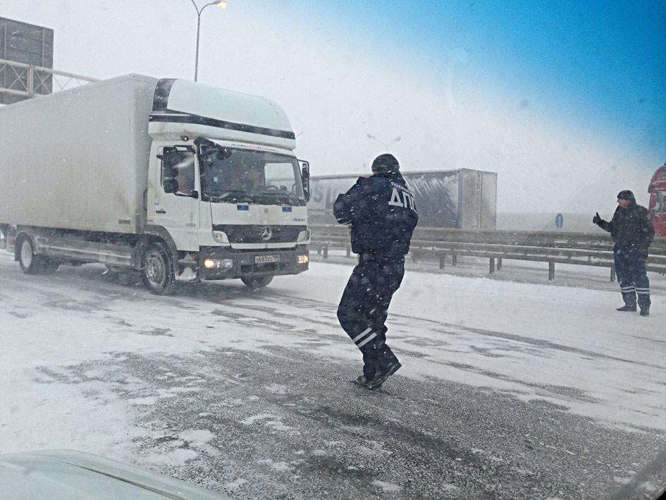 ДПС против снежной бури
