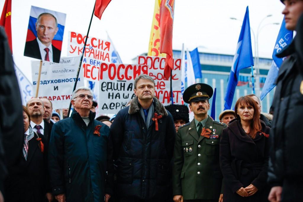 В центре Краснодара прошел многотысячный митинг в поддержку братского народа Украины