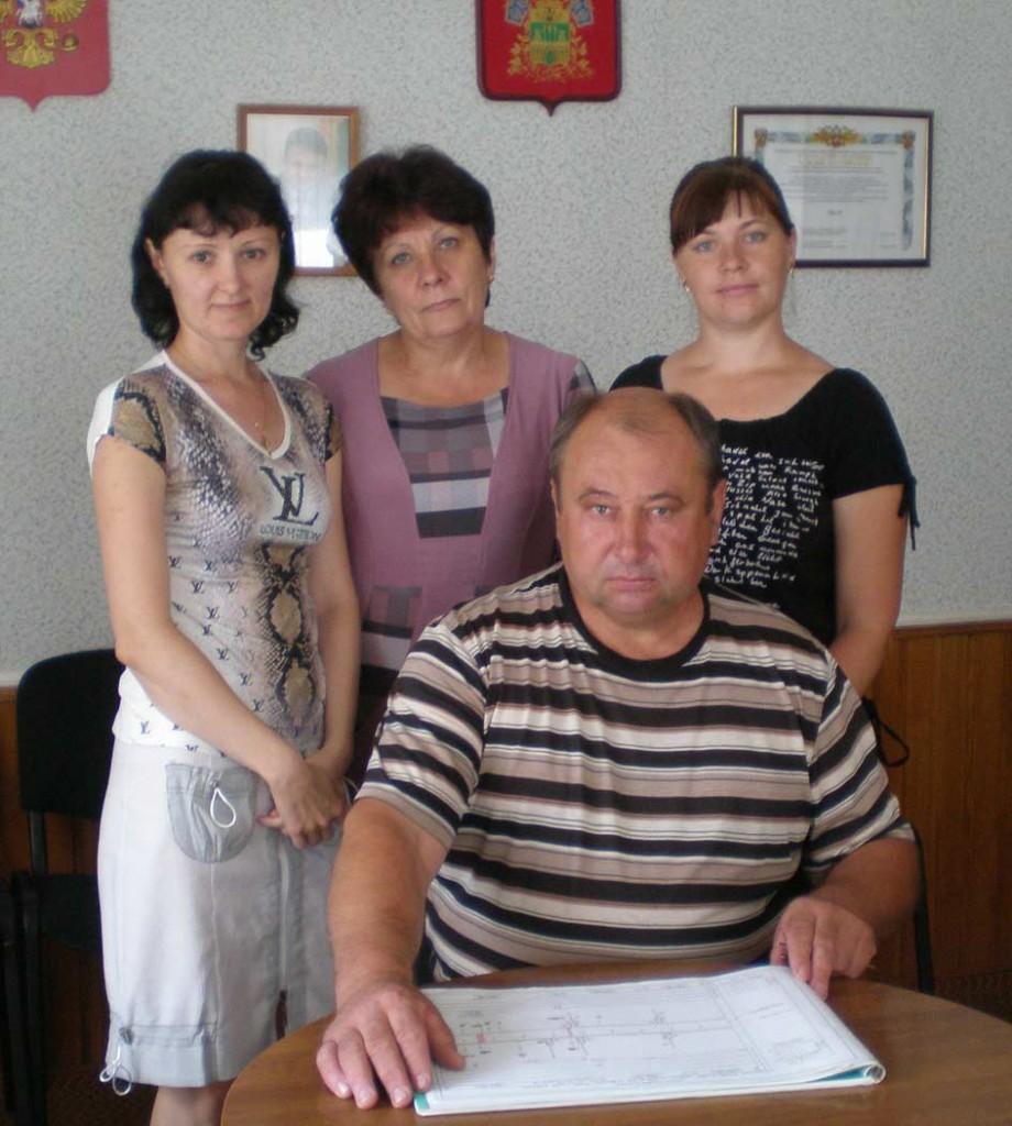 А.П.Клименко вместе со своими помощницами–   Е.В.Поповой, Л.Г.Сиваторовой и Т.Ю.Дехнич