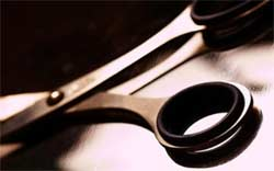 Ножницы как средство устрашения